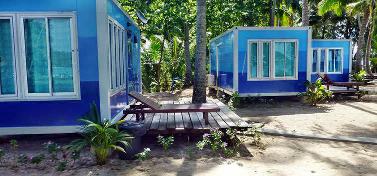 Beach Bungalows under the trees