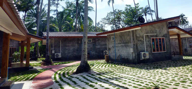 Coconut Garden Family bungalows footpath